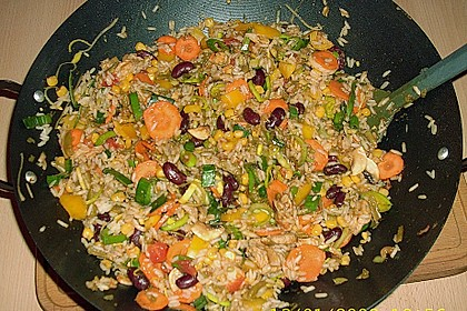 Dreadys Reispfanne - auch für den Wok 1