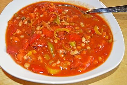 Mediterrane Bohnensuppe 3