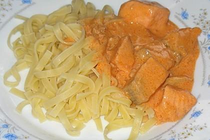 7 - Minuten - Lachs - Sauce zu Pasta 2