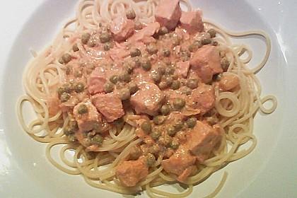 7 - Minuten - Lachs - Sauce zu Pasta 9