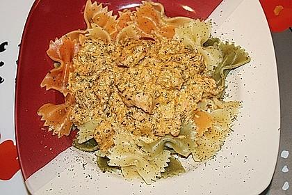 7 - Minuten - Lachs - Sauce zu Pasta 6