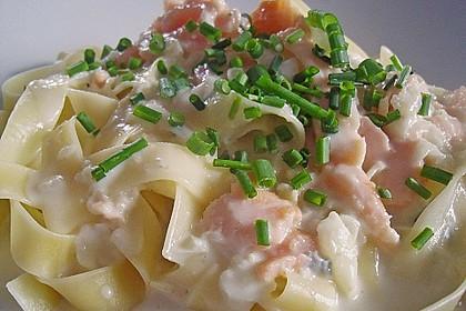 7 - Minuten - Lachs - Sauce zu Pasta