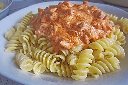 7 - Minuten - Lachs - Sauce zu Pasta 1
