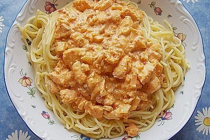 7 - Minuten - Lachs - Sauce zu Pasta 3