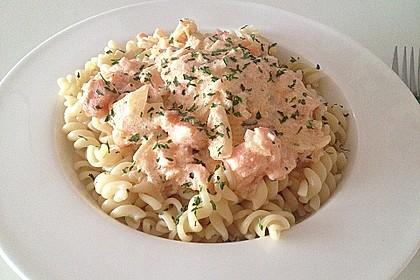7 - Minuten - Lachs - Sauce zu Pasta 7
