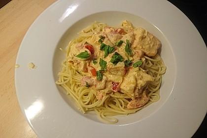 7 - Minuten - Lachs - Sauce zu Pasta 4