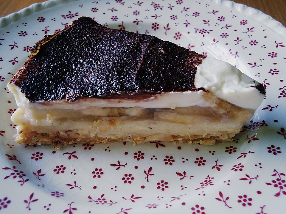 Bananen Kuchen Mit Baileys Und Weisser Schokolade Von
