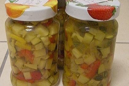 Zucchini süß - sauer eingelegt 3