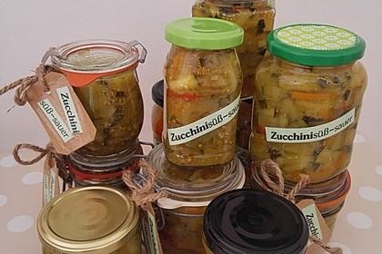 Zucchini süß - sauer eingelegt 2