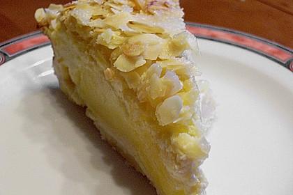 Apfel - Rahmkuchen mit Mandelkuste 6