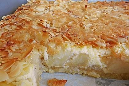 Apfel - Rahmkuchen mit Mandelkuste 3