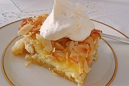 Apfel - Rahmkuchen mit Mandelkuste 2