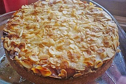 Apfel - Rahmkuchen mit Mandelkuste 5