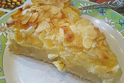 Apfel - Rahmkuchen mit Mandelkuste 7