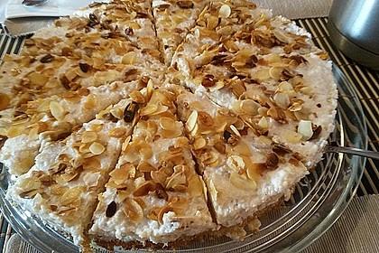 Apfel - Rahmkuchen mit Mandelkuste