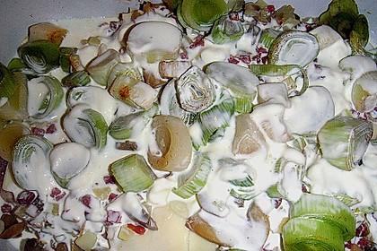 Eingelegte Porree - Schnitzel (Bild)