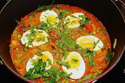 Baskische Eier in Gemüsesoße 1