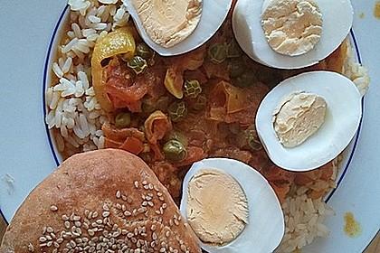 Baskische Eier in Gemüsesoße 6