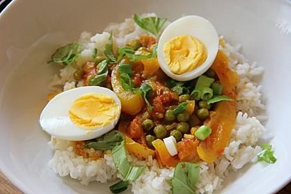 Baskische Eier in Gemüsesoße 5
