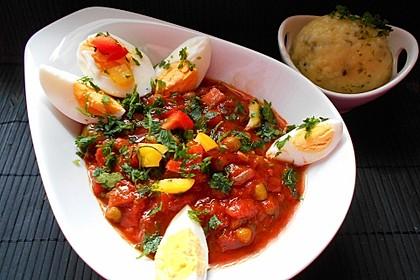 Baskische Eier in Gemüsesoße 2
