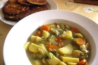 Kartoffel - Gemüse Suppe 2
