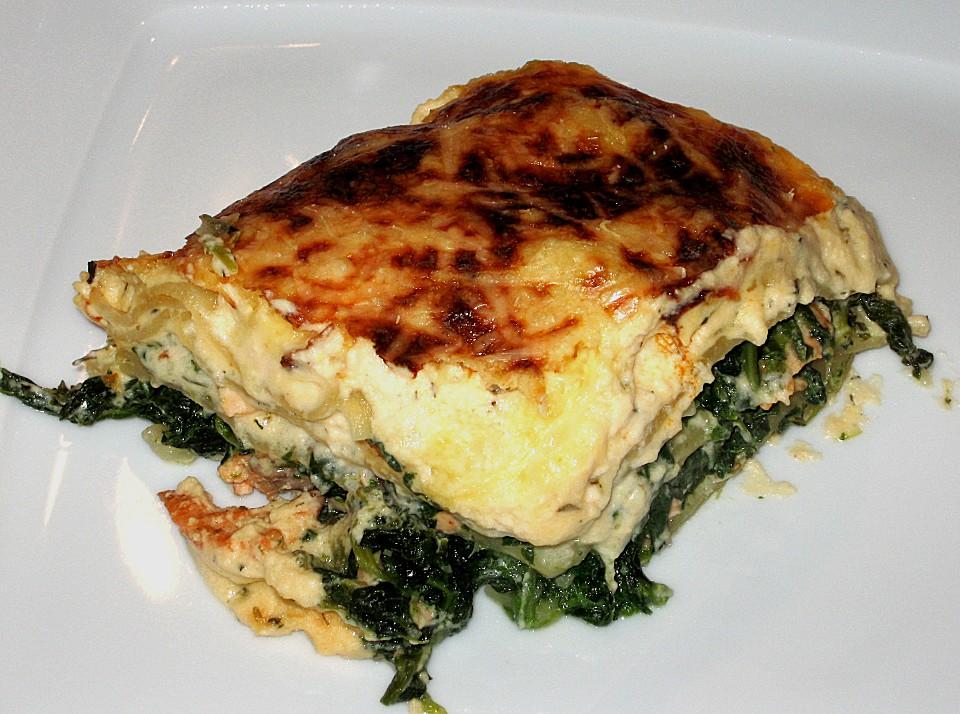 Lachs Spinat Lasagne Von Feuermohn Chefkoch