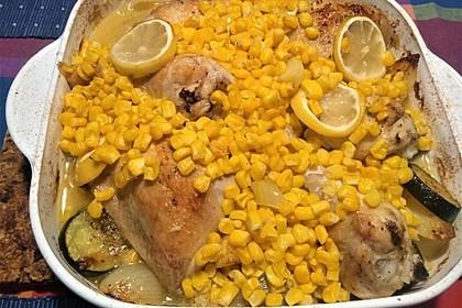 Spanische Hähnchenpfanne mit Kartoffeln und Zucchini 7