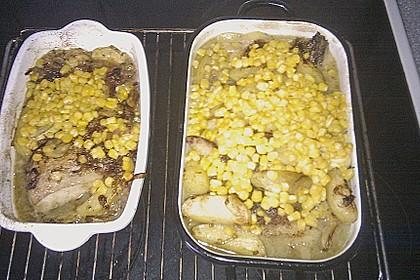 Spanische Hähnchenpfanne mit Kartoffeln und Zucchini 13