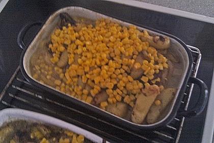 Spanische Hähnchenpfanne mit Kartoffeln und Zucchini 12