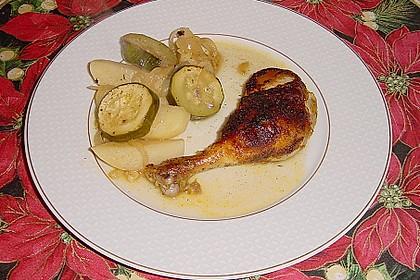 Spanische Hähnchenpfanne mit Kartoffeln und Zucchini 8