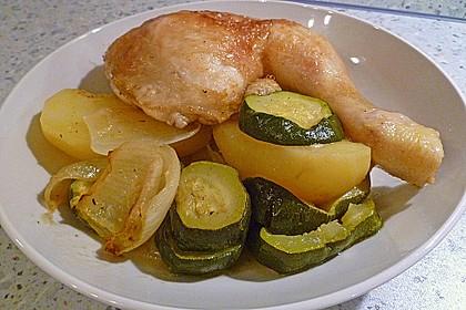 Spanische Hähnchenpfanne mit Kartoffeln und Zucchini 5