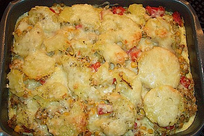 Bunter Kartoffel - Thunfisch Auflauf 4