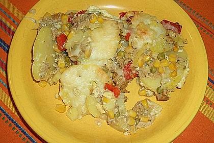 Bunter Kartoffel - Thunfisch Auflauf 8