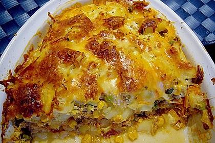 Bunter Kartoffel - Thunfisch Auflauf 13