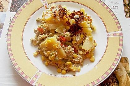 Bunter Kartoffel - Thunfisch Auflauf 3