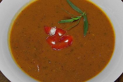 Tomaten - Orangen - Estragonsuppe