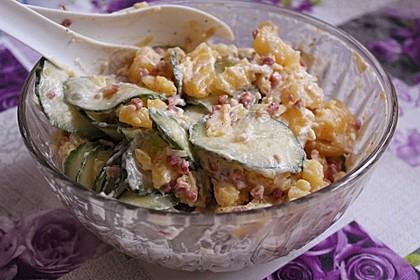 Frischer Kartoffelsalat mit Speck und Gurke 6