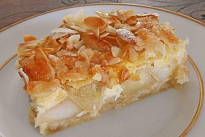 Apfelrahmkuchen mit Mandeln