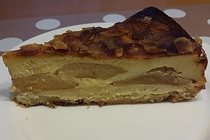 Apfelrahmkuchen mit Mandeln 3