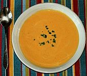 Kürbis - Käse Cremesuppe (Bild)