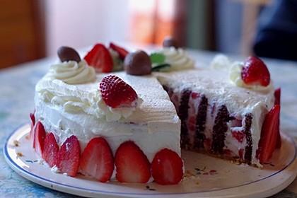 Gewickelte Erdbeer - Tiramisu - Torte 16