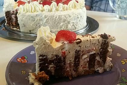 Gewickelte Erdbeer - Tiramisu - Torte 8