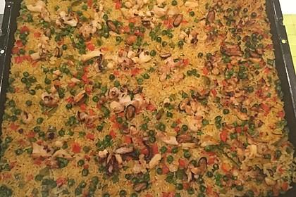 Paella aus dem Ofen