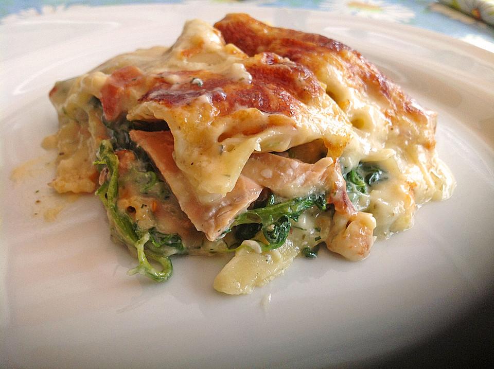 Leichte Spinat Lachs Lasagne Von Chrissi09 Chefkoch