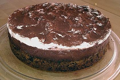 Mousse au Chocolate Kuchen mit Kirschen 2