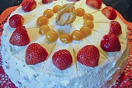 Erdbeer - Physalis - Torte 1