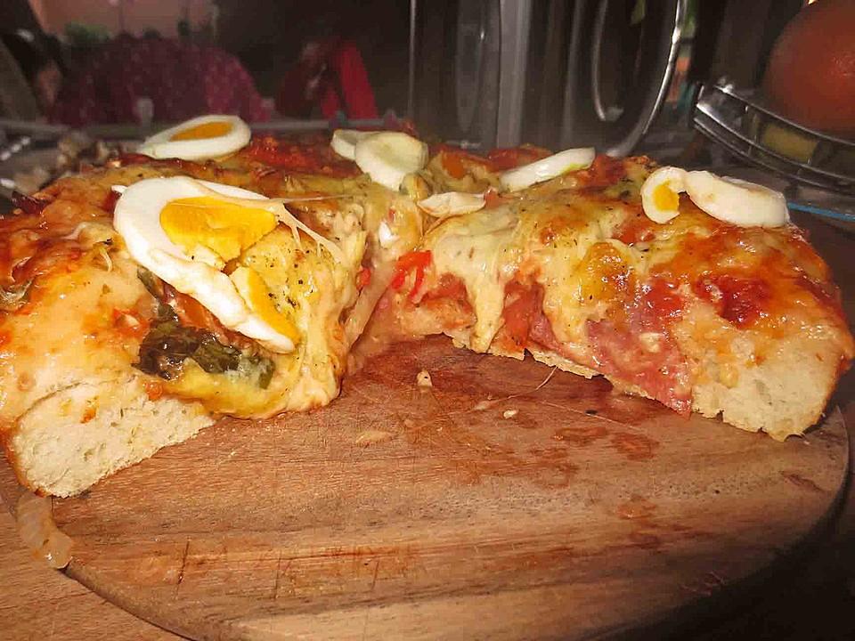 Kühlschrank Pizza Aldi : Pizzateig für brotbackautomaten von tirza chefkoch