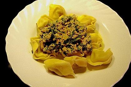 Tortellini in Spinat - Thunfisch