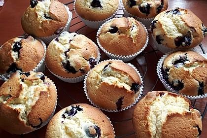 Weiße Schokoladen - Blaubeer Muffins 4
