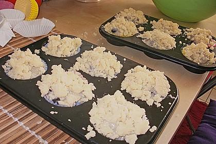 Weiße Schokoladen - Blaubeer Muffins 13